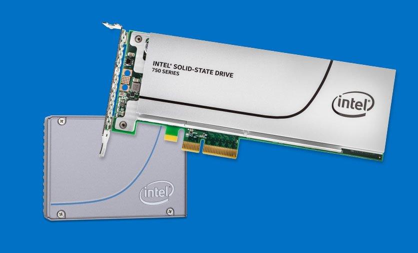SSD als Steckkarte: Die Intel-Grafikkarte SSD 750 Series nutzt bereits das schnellere NVME-Protokoll.