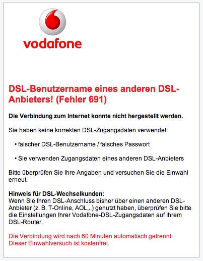 Vodafone Dsl Gesperrt