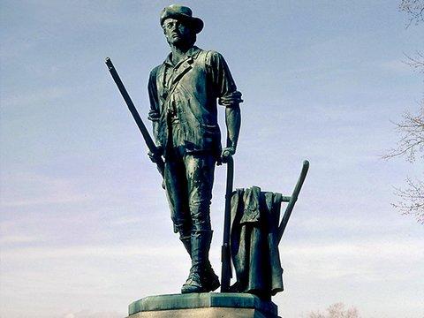 Minutemen-Statue in Conchord