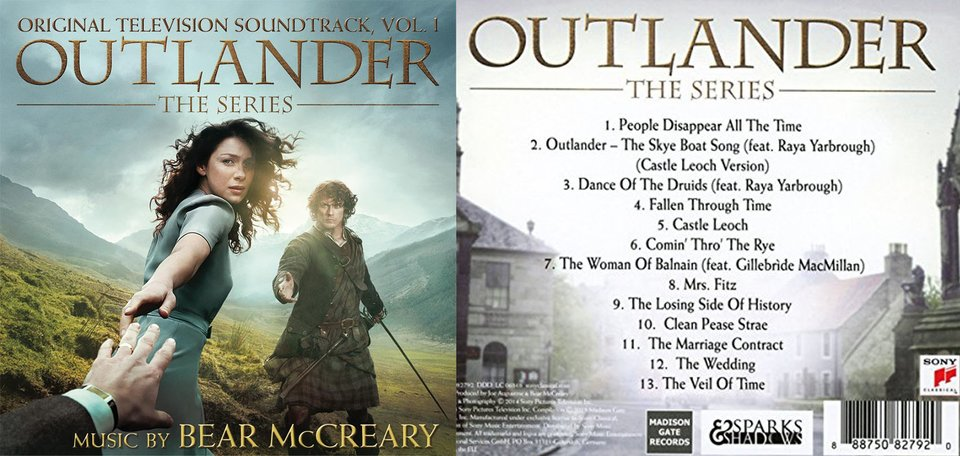 Der Outlander-Soundtrack mit Titel-Liste Bildquelle: Amazon