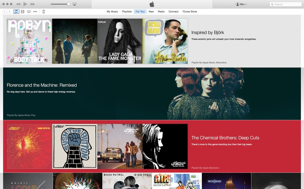 iTunes 12.2 mit Apple Music