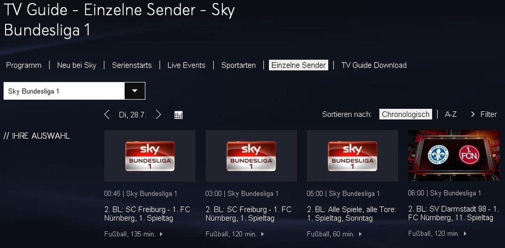 Sky-Bundesliga-TV-Guide