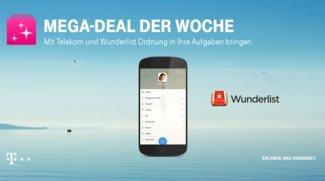 """Wunderlist Pro Version ein Jahr kostenlos nutzen: Der Telekom """"Mega Deal""""!"""