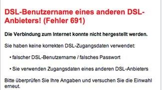 Lösung: Vodafone-Fehler 691 (Benutzername gesperrt)