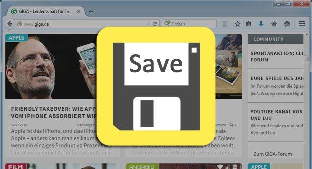 Webseite speichern mit Firefox, Chrome und komplett mit Unterseiten – So geht's