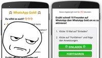 WhatsApp-Gold-Kettenbrief: Vorsicht vor bösartiger Abzocke