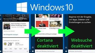 Windows 10: Cortana deaktivieren (auch Websuche) – Anleitung