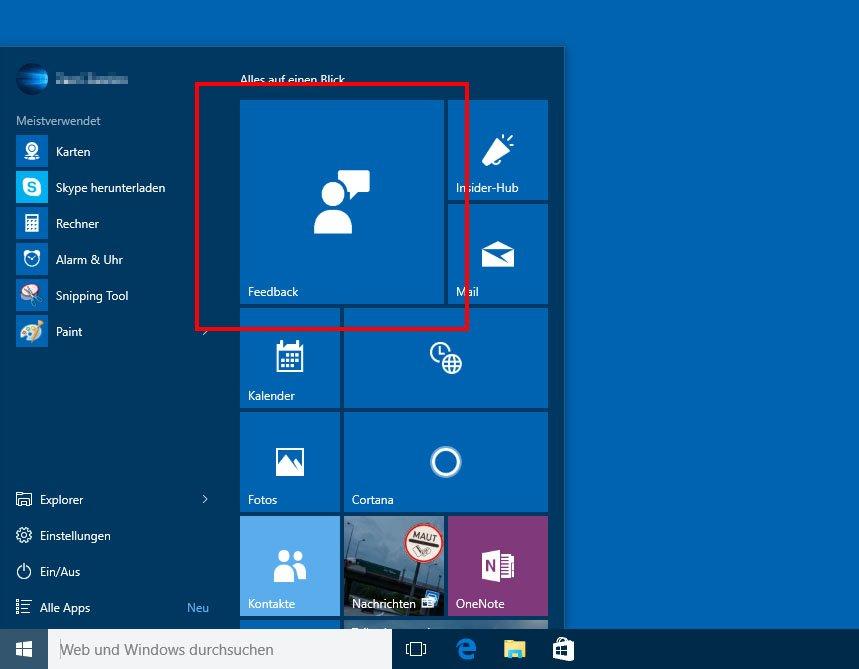Über die Feedback-App geben Insider Verbesserungsvorschläge für Windows 10 an Microsoft weiter.