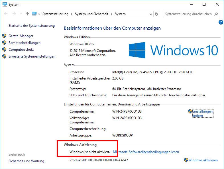 windows 10 plötzlich nicht mehr aktiviert