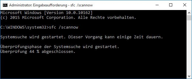 Windows 10: Das Tool SFC repariert Systemdateien.