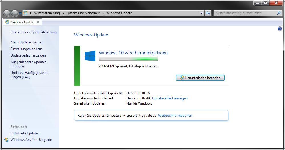 Windows update manuell starten windows 7 supported intel processors