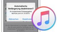 Apple Music: Automatisch kündigen auf iPhone, iPad und mit iTunes – so wird's gemacht…