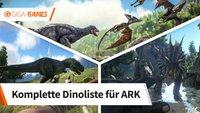 ARK - Survival Evolved: Alle Dinos und Kreaturen in einer Liste