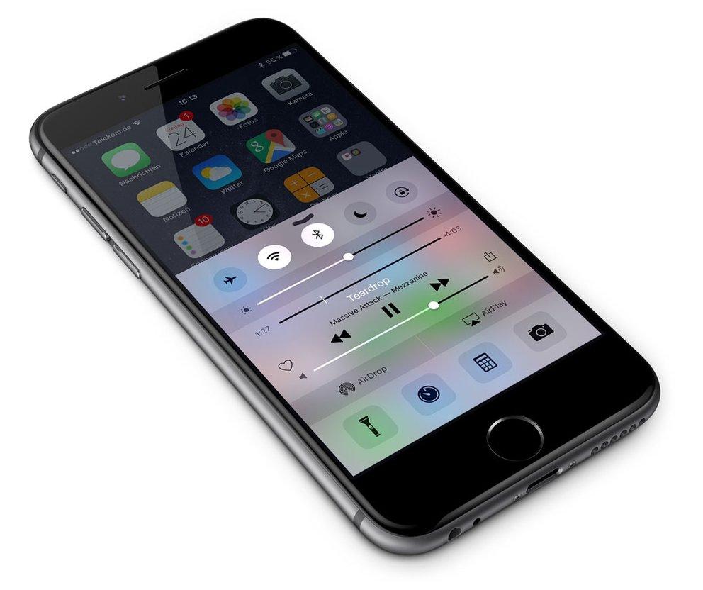 iOS Kontrollzentrum