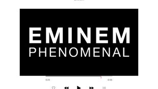 "Exklusives Debut auf Apple Music: Eminem-Kurzfilm zur neuen Single ""Phenomenal"""