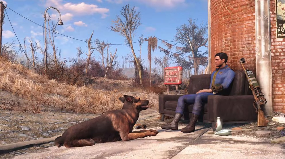 fallout 4 relaxing sole survivor und dogmeat