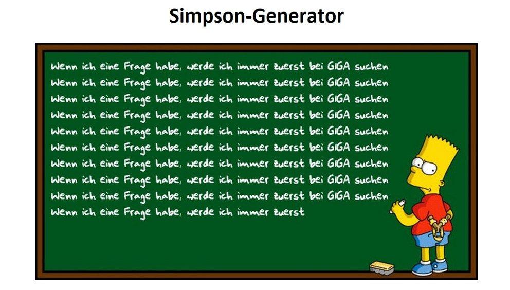 Simpsonize me alternativen zum inaktiven generator giga for Aufmerksamkeit englisch