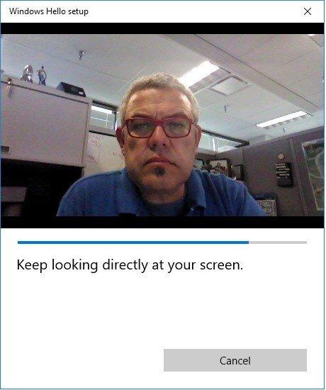 Schaut relativ neutral, wenn ihr Windows Hello einrichtet. Bildquelle: Intel