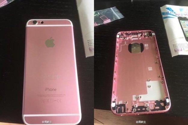 So könnte ein Rosa-iPhone 6s aussehen