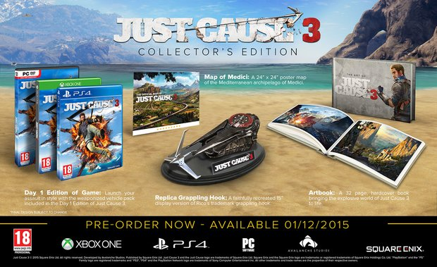 Just Cause 3: So sieht die Collector's Edition aus
