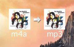 m4a in mp3 auf dem Mac...