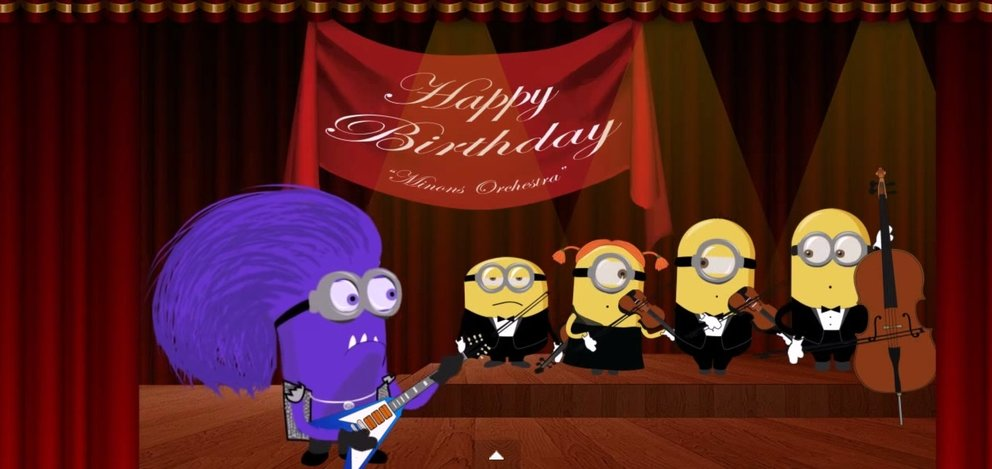 minions-happy-birthday - minions beim singen