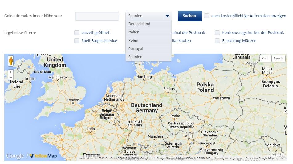 Karte Sperren Postbank.Postbank Geldautomaten Alle Infos Zu Standorten