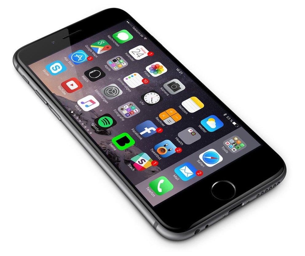 Querformat-Modus des iPhone 6 Plus