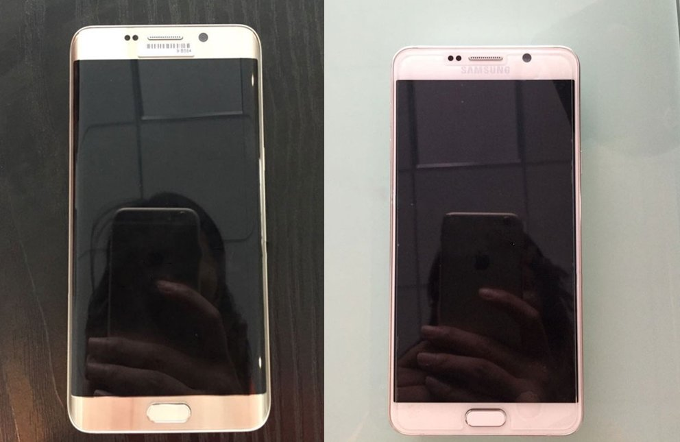 Links das Samsung Galaxy S6 edge Plus, rechts das Galaxy Note 5