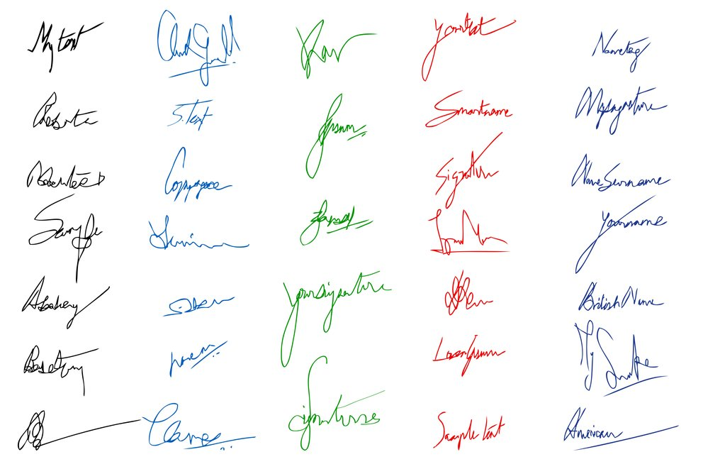 Bewerbung Unterschrift Set von Fantasie untreschriften