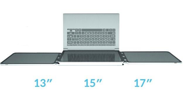 Slidenjoy verleiht Macbooks Flügel: Kickstarter-Projekt verspricht ausklappbare Extra-Screens