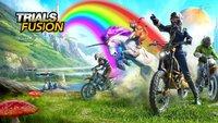 Trials Fusion - The Awesome Max Edition im Test: Tollkühne Miezekatzen auf feuerspeienden Einhörnern