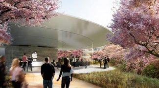 Apple Campus 2: Besucherzentrum mit Dachterasse, Apple Store und Cafe
