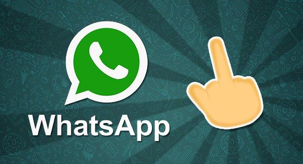 Mittelfinger Whatsapp