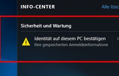 Windows 10: Identität...