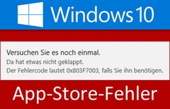 Lösung: Windows 10 Store –...