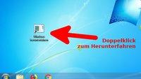 Windows 7 per Mausklick schnell herunterfahren – so geht's