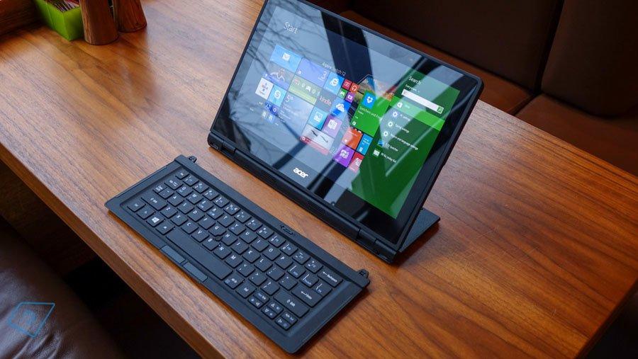 Das Acer Aspire Switch 12 ist durch die abnehmbare Tastatur und den Standfuß vielseitig einsetzbar. Bildquelle: Tabtech