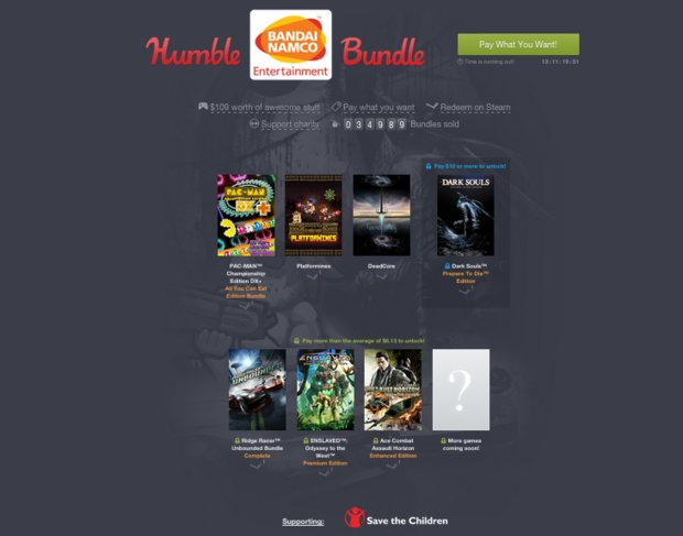 *Update* Humble Bandai Namco Bundle: Dark Souls, Enslaved & mehr im Angebot