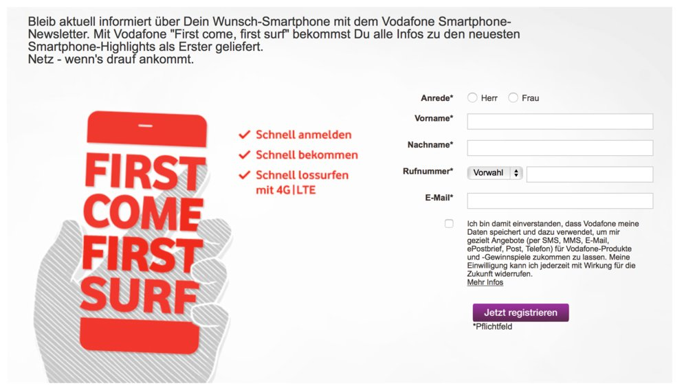 vodafone iphone 6s registrieren