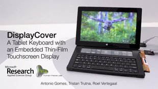 DisplayCover: Tastatur mit E-Ink-Touchscreen für das Surface (Video)