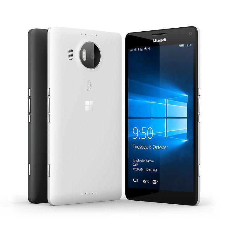 Das ist das Microsoft Lumia 950 XL von vorne und von hinten.