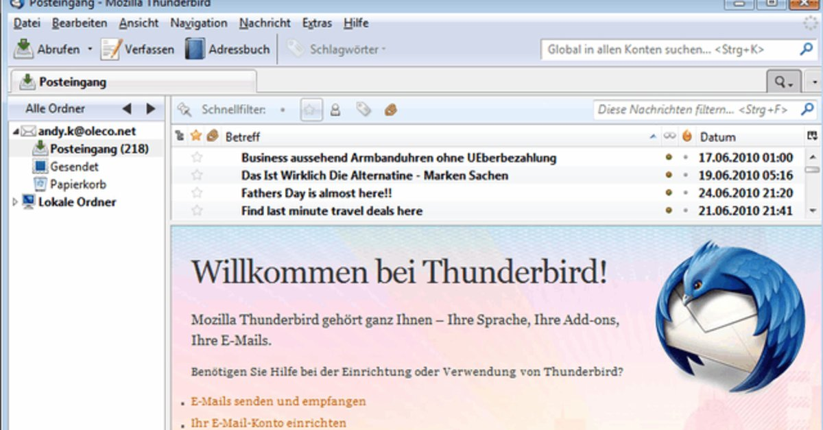 kostenlos mozilla thunderbird