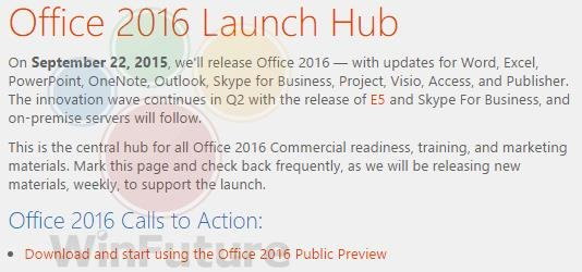 Office 2016 Release Announcement