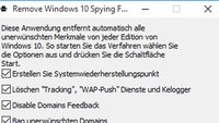 Remove Windows 10 Spying Features