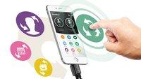 MemoriesCable: iPhone-Akku laden & Daten gleichzeitig sichern