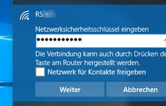 Windows 10: WLAN-Passwort...