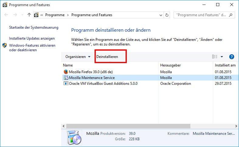 So deinstalliert ihr Programme unter Windows 10.