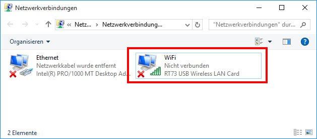 Windows 10: Der WLAN-Adapter hat noch keine Internet-Verbindung.