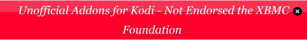Kodi Addons inoffizielle Addons banner